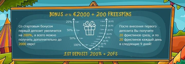 Бонусы в Casino X онлайн